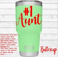 Family Vinyl Decal for Your Tumbler Cups Lowball Coffee Mugs #1 Aunt Uncle Nana