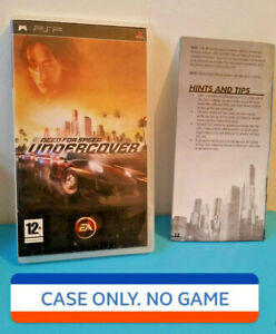 * NO DISC * Sony Playstation Portable PSP Game - NFS Need For Speed Undercover