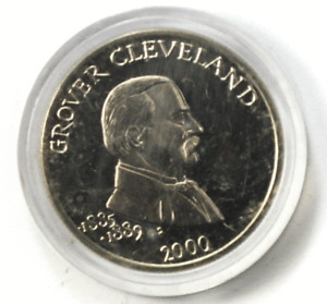 2000 Liberia 5 Five Dollars Copper Nickel Coin Grover Cleveland Gem Unc