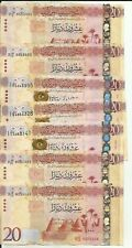 LIBYA LOT 140 DINARS 7 NOTES. FACE VALUE 101$. VF-XF CONDITION. 6RW 06AGO