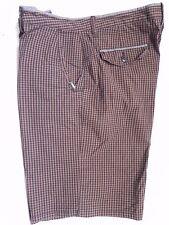 VANS~Black & Brown Plaid Shorts Mens's size 36