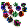 12pcs-Mylar Crinkle Foil Balls Cat Kitten Sound Play Toy Paper Rustle Hot XPR ht