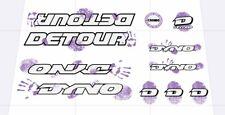 Dyno  Detour 1992  Decal Set Stickers old school BMX Restoration Lavender White