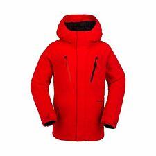 2017 NWT BOYS VOLCOM GARIBALDI INSULATED SNOWBOARD JACKET $170 M fire red