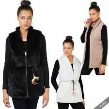 Faux Fur Machine Washable Solid Coats & Jackets for Women
