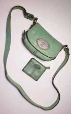 Fossil Vintage Green Lether Maddox Small Crossbody Bag w/Small Wallet ! ZB4502