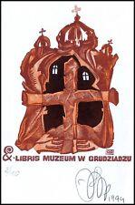 Agirba Ruslan 1994 Exlibris X6 Architecture Grudziądz Cross Religion 115