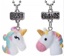 Girl Children BFF Pony Unicorn Pony Best Friend Resin Pendant Necklace Gift her