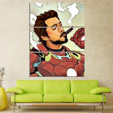 Iron Man Cartoon oil painting Canvas Cuadros Decoration 3 pcs movie Modular Mord