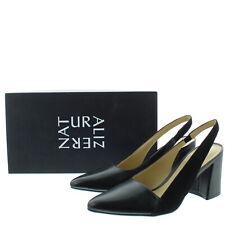 Naturalizer Womens Hannie Leather N5 Contour Heel Pump Slingback Black