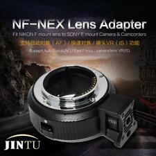 JINTU Auto Focus AF Lens Adapter Ring for Nikon F to SONY E-Mount A7 A6500 A9