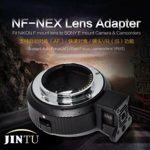 Auto Focus AF Lens Adapter Ring for Nikon F to SONY E-Mount A7 A9 A6500 A6300