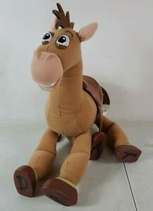 "Toy Story Bullseye Horse Plush Galloping Sound 16"" Disney Store Hard hooves plus"
