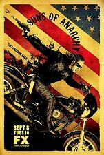 "SONS OF ANARCHY NEW TV Series Silk Fabric Poster 11""x17"""
