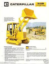 Equipment Brochure - Caterpillar - 931B - Track-type Loader - c1979 (E2054)