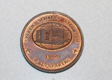 """Old Original 1860 / 1960 Stadtsparkasse Frankfurt am Main100 Jahre 1 5/5"""" Medal"""