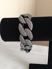 "NEW Melania Limited Edition Pave' Style Curb Link 8"" Bracelet"