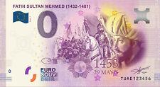 0 Euro Souvenir Turkiye - Fatih Sultan Mehmed - TUAE - 0 euro