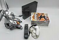 Nintendo Wii Console Bundle RVL-101 w MotionPlus Remote & Nunchuck - 5 Games