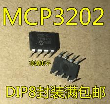 A//D Convertisseur 100 Ksps canaux 2 12bit 2,7 ÷ 5,5 V dip8 mcp3202-bi//p A//D-Convertisseur-dans