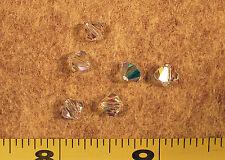 *** CLOSEOUT *** Swarovski Bicone Crystal AB/Iris Crystals 6mm Loose 6 pieces