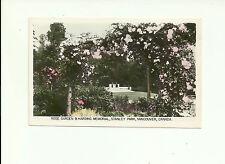ROSE GARDEN & HARDING MEMORIAL STANLEY PARK, VANCOUVER, BC REAL PHOTO POSTCARD