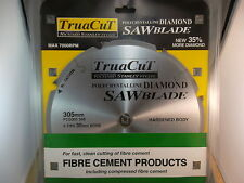 FIBRE CEMENT 305mm Diamond SAW BLADE - Cuts Hardie Products
