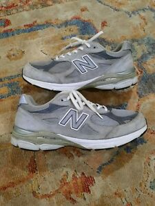 New Balance 990 v3 Grey Mens Athletic Shoes Made In USA M990GL3 Size 10.5