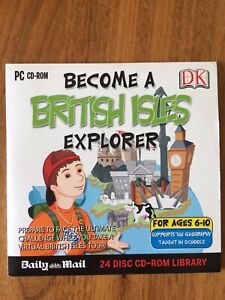 PC CD-ROM Become a British Isles Explorer (Ages 6-10)  DK / Daily Mail Promo