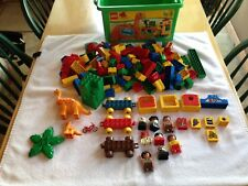 Lego Duplo 2603 Dinosaur Storage Tub, 157 Total Pieces, Extras