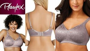 Playtex 18hr Wire Free Ultimate Lift Support Bras Steel 16 18 20 22 B C D DD E