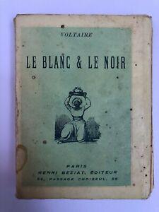 Le blanc et le noir - Voltaire - 1941