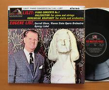 CSD 1549 FACTORY SAMPLE Liszt Piano Concerto 1 etc Eugene List 1963 Stereo EX/EX