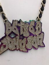 Betsey Johnson Womens Name Plate Necklace