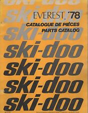 1978 SKI-DOO EVEREST SNOWMOBILE PARTS MANUAL 480 1073 00 (589)