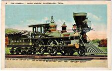"Postcard:Unused: Civil War Locomotive, ""The General"", Union Station, Chattanoona"