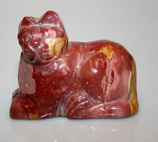 Carved Mookaite Gemstone Cat 77gr 2x1.75 B66B