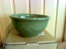 Longaberger Woven Traditions Pottery Dessert Bowl in SAGE!- USA!