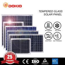 Dokio 10W/30W/40W/50W/80W/100W Polykristallines Solarpanel für Haus / Garten