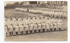1922 RPPC Postcard of the Philippine Ateneo Cadet Corps in Uniform at Attention