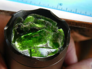 20pc RARE NATURAL ROUGH  CHROME DIOPSIDE 10- 20mm sizes from Skardu Pakistan #19