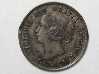 VF 1901 Silver 5 Cent Canadian Coin.  #9