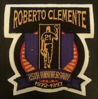 Roberto Clemente 25th Anniversary Pittsburgh Pirates Patch 1972-1997