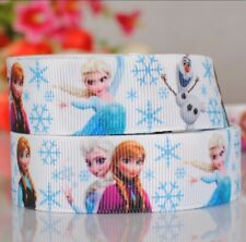 Frozen Character 25mm Grosgrain Ribbon for card Making or Bows. 1 Meter.