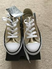 Converse Youth CT All Stars 353181C Light Gold/White Size UK 11 RRP £60 BCF74