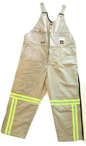 Overalls Mens XL Flame Resistant Insulated Bibs ITEX Reynolds Banware Reflective