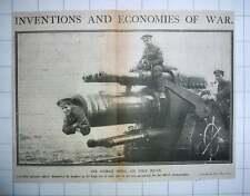 1917 Canadian Gunners Amusing Themselves Displaying Huge Gun