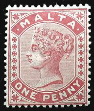 Malta Stamp 1885-90 1d Queen Victoria Scott # 9 SG22 MINT OG H
