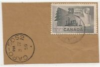 CANADIAN ARMY POST OFFICE (C.A.P.O.) CANCEL ON PIECE
