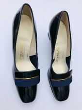 Nib New vtg 70s Navy patent leather Nauralizer heels pumps shoes sz 5N